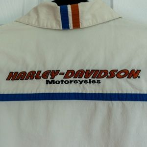 Harley-Davidson Fitted Spell Out Button Up